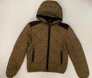 Коричневая с черным куртка для мужчин  №3603