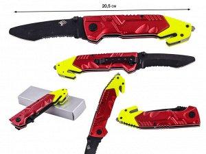 Спасательный нож со стеклобоем Colt Rescue Linerlock CT492 (США) (Полный функционал для сотрудников МЧС и каждому человеку в машину и для ежедневного ношения. Последняя фабричная поставка. Только в на