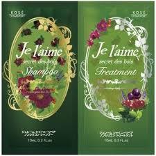 """Восстанавливающий шампунь и тритмент для сухих волос и нормальных Kose Cosmeport """"JE L'AIME"""" пробник 10мл + 10мл"""