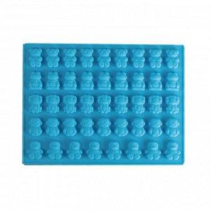 Форма для приготовления леденцов и мармелада Зоопарк, цвет Микс, 45 ячеек