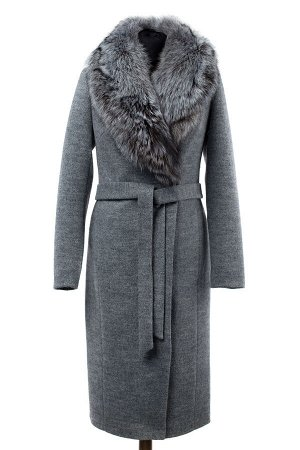 Пальто утепленное с натуральным мехом
