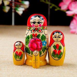 """Матрёшка """"Семёновская"""", 4 кукольная, 9х4 см"""