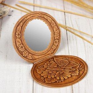 Зеркало на шарнирах, микс, береста