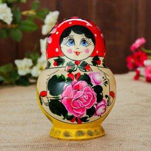 Матрёшка «Семёновская», красный платок, 10 кукольная, 16 см