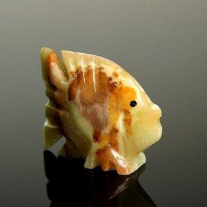 Сувенир «Рыба», 6,3 см, оникс