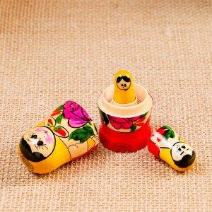 Матрёшка «Семёновская», желтый платок, 3 кукольная, 7 см