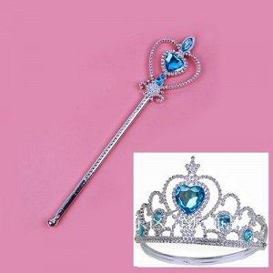 """Набор """"Новогодний"""": волшебная палочка и корона."""