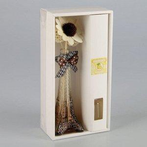 """Набор подарочный """"Эйфелева башня"""" (ваза, 2 палочки с шариками, декор, аромамасло 30 мл), аромат лимон"""
