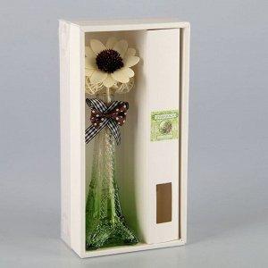 """Набор подарочный """"Эйфелева башня""""(ваза,палочки с декором, аромамасло), свежесть леса"""
