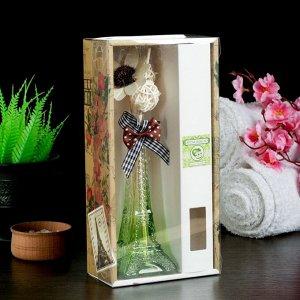"Набор подарочный""Эйфелева башня""(ваза,2 палочки с шариками,декор,аромамасло 30 мл), яблоко"