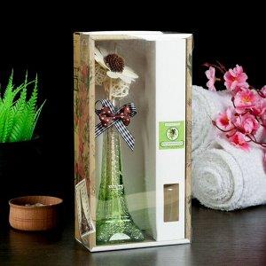 """Набор подарочный""""Эйфелева башня""""(ваза,2 палочки с шариками,декор,аромамасло 30 мл), сандал"""
