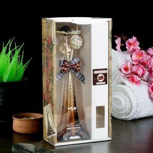"Набор подарочный""Эйфелева башня""(ваза,2 палочки с шариками,декор,аромамасло 30 мл), шоколад"