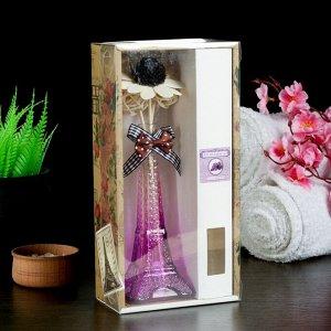"Набор подарочный""Эйфелева башня""(ваза,2 палочки с шариками,декор,аромамасло 30 мл), фиалка"