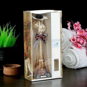 """Набор подарочный """"Эйфелева башня"""" (ваза, 2 палочки с шариками, декор, аромамасло 30 мл), аромат океан"""