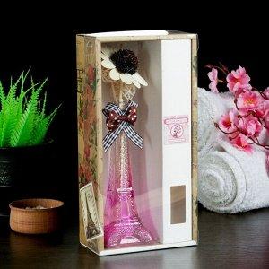 """Набор подарочный""""Эйфелева башня""""(ваза,2 палочки с шариками,декор,аромамасло 30 мл), сакура"""