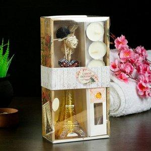 """Набор подарочный """"Эйфелева башня""""(ваза,палочки с декором,свечи,аромамасло),апельсин,8 марта"""