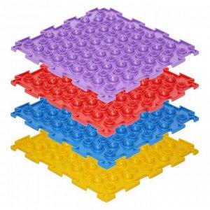 Массажный коврик 1 модуль «Орто. Акупунктурный», жёсткий, цвета МИКС