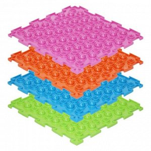 Массажный коврик 1 модуль «Орто. Акупунктурный», мягкий, цвета МИКС