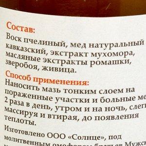 Мазь «Солох аул» Живичная с Мухомором, стекло, 30 мл