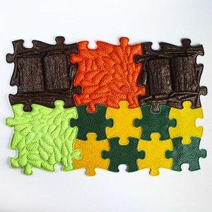 Детский массажный коврик Лесной, 12 модулей, цвет Микс