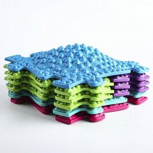 Детский массажный коврик Морской 2, 15 модулей, цвет Микс