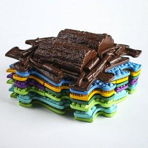 Детский массажный коврик Микс, 16 модулей, цвет Микс