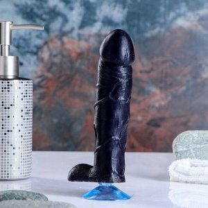 """Фигурное мыло """"Фаворит"""" на присоске 16 см, чёрное 165 г"""