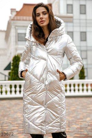 Куртка оттенка металлик