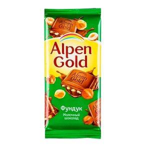 Шоколад Альпен Гольд Фундук 85 г 1уп.х 21шт.