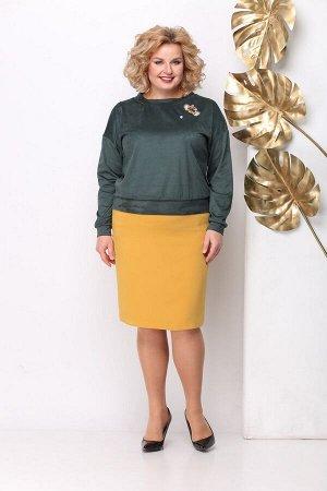 Женский комплект трикотажный джемпер и юбка