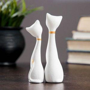 """Фигура """"Love Коты"""" мини набор 2шт белые 3,5?3,5?11,5см 080"""