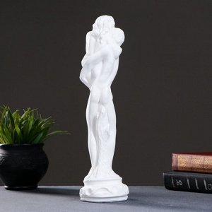 """Фигура """"Влюбленные"""" малый белый 10х10х33см"""