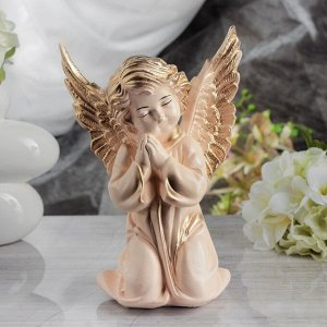 "Статуэтка ""Ангел с крыльями"", бежевая, 27 см"