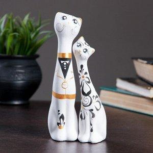 """Фигура """"Love Коты"""" малые набор 2шт белые 5?8?18см 040"""