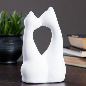 """Фигура """"Коты влюбленные"""" большие белые 6?11?17см 038"""