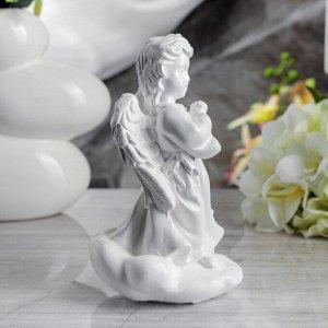 """Сувенир """"Молящийся ангел в платье"""" 19 см, белый"""