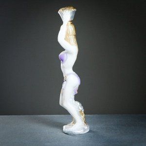 "Фигура ""Амазонка"" белая 53х14см"