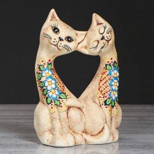 "Статуэтка ""Коты сердце"". под шамот. 24 см. микс"