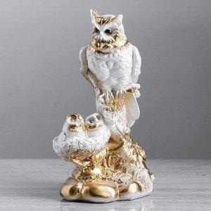 """Сувенир """"Совы семья"""" белая, 26 см"""