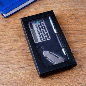 Набор подарочный 3в1 (ручка, калькулятор, нож 4в1)