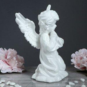"""Статуэтка """"Ангел с крыльями"""" белая, 27 см"""