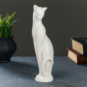 "Фигура ""Кошка Грация"" белая. 6х7х23см"