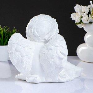"Фигура ""Ангел сидя средний"" 30х21х25см. белый"