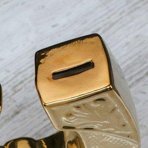 """Копилка """"Подкова"""". булат. золотистый цвет. 22 см"""