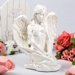 """Статуэтка """"Девушка-ангел"""", белая, 24 см"""