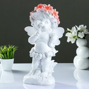"Фигура ""Ангел в цветах"" 43х22см"