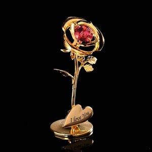 Сувенир «Розочка», 3?3,5?8 см, с кристаллами Сваровски