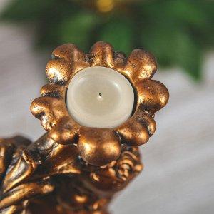 """Статуэтка """"Ангел с подсвечником"""" бронзовый цвет, 32 см"""