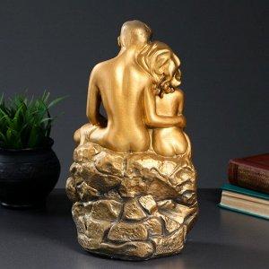 """Фигура """"Влюбленные на камне"""" золото 12х20х30см"""
