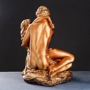 """Фигура """"Влюбленные на камне средние"""" 37х41х50см, бронза"""